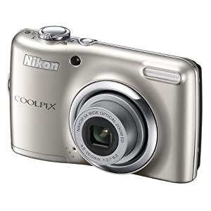 Nikon Coolpix L23 Digital Camera with 5x Optical Zoom (Silver)