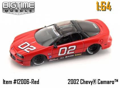 muslce red racing 2002 chevy camaro 1 64 scale die cast car 100 % die