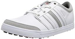 adidas Men\'s Adicross Gripmore Golf Shoe,Running White/Running White/Light Scarlet ,7.5 M US