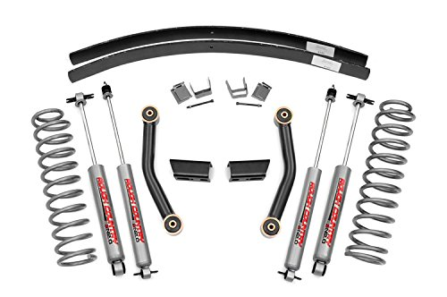 Rough Country - 670XN2 - 3-inch Series II Suspension Lift Kit w/ Premium N2.0 Shocks (Kit Lift Jeep Xj compare prices)