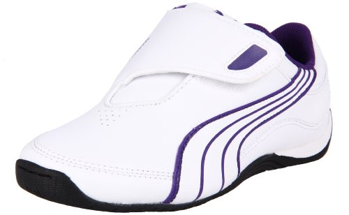Puma Drift Cat III New Sneaker (Little Kid/Big Kid),White/White/Heliotrope,1 M US Little Kid