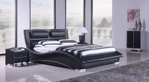 Napoli Modern Platform Bed-black (King)