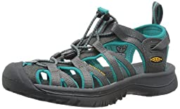 KEEN Women\'s Whisper Sandal,Dark Shadow/Ceramic,9 M US