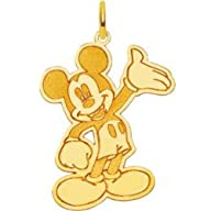 14K Gold Disney Waving Mickey Mouse C…