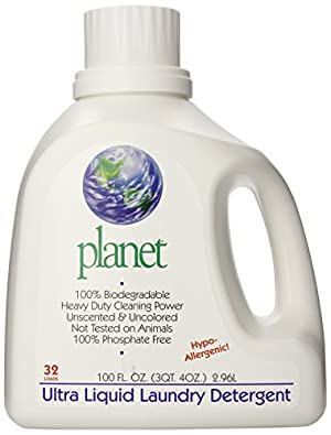 Planet Ultra Liquid Laundry Detergent, Unscented, 100 Fluid Ounce