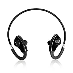 Levin Stereo Wireless Sport Neckband Earphone for Bluetooth Devices (Black)