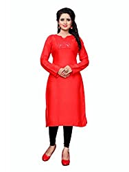 New mirror work kurti by sanvari fashion(sr-001-S-Orange)