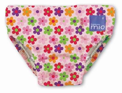 Bambino Mio Swim Nappy Diaper, Pink Daisy, Small back-327826