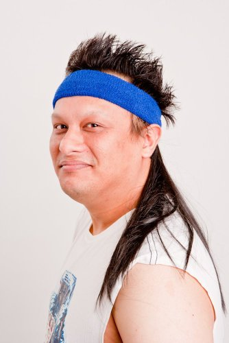 The Black Mamba Mullet Headband - 1
