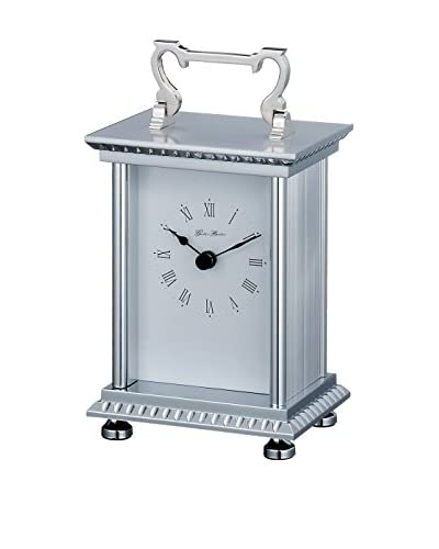 Control Brand Anniversary Carriage Clock, Silver