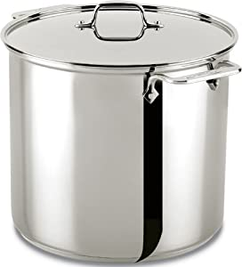 All-Clad E9076474 Stainless Steel Tri-Ply Bonded Dishwasher Safe Stockpot with Lid... by All-Clad