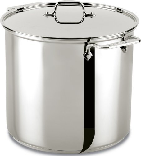 All-Clad 59916 Stainless Steel Dishwasher Safe Stockpot Cookware, 16-Quart, Silver
