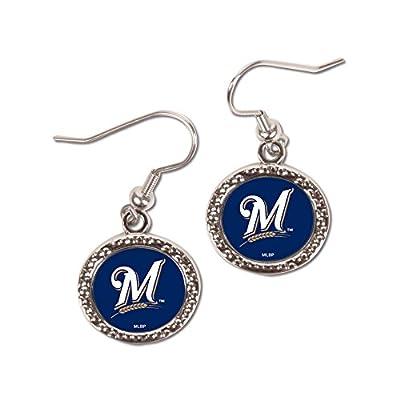 MLB Milwaukee Brewers Round Earrings, Large, Multi