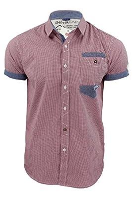Herren Shirt von Smith Jones 'Gebunden' Klein Kariert Kurzärmlig