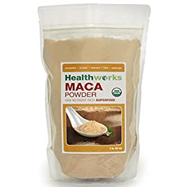 Healthworks Raw Certified Organic Maca Powder 2 Pounds