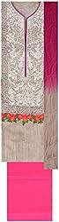Princess Women's Cotton Unstitched Dress Material (Cream)
