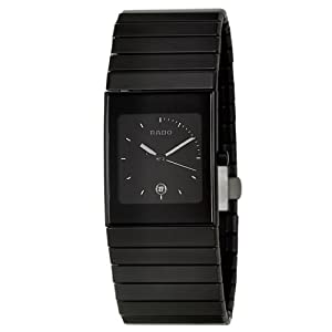 Rado Men's R21713152 Ceramica Black Dial Watch