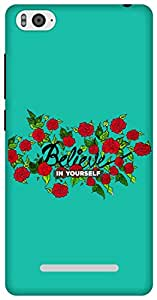 The Racoon Lean Believe hard plastic printed back case for Xiaomi Mi4i