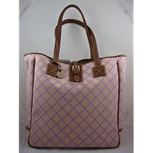 AUTHENTIC DOONEY & BOURKE Large Quilted Signature Tote Available in Yellow & Pink