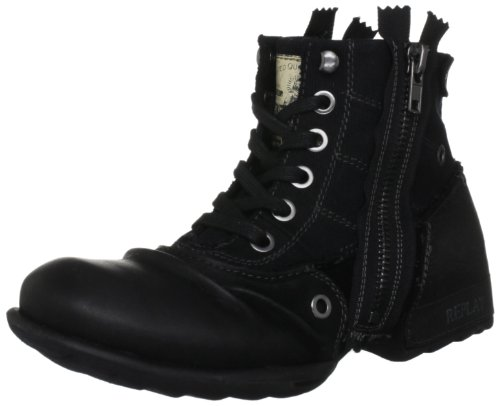 Replay Men's Clutch Black Zip Up Boot GMU01.002.C0003L.003 12 UK