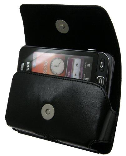 Original MTT Étui-Samsung GT S5230Star-Horizontal en cuir avec clip et dragonne de sécurité (Produit MTT) pour S 5230STAR