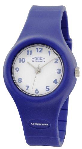 Umbro D407 - Orologio da polso bambini, cinturino in plastica colore blu