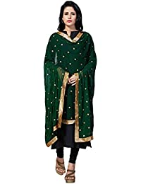 Rani Saahiba Embroidered Chiffon Dupatta With Golden Lace