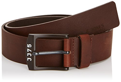 Jack and Jones - JJALVIN Leather Belt Noos, Cintura da uomo, marrone (brown  (black coffee)), 36cm (Taglia Produttore:95)