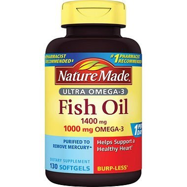 Nature Made 1400mg Ultra Omega-3 Fish Oil Softgels (130 ct.) by Nature Made (Nature Made Ultra Fish Oil compare prices)
