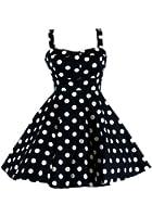 Ixia Women's Polka Dot Fold Over Pinup Dress