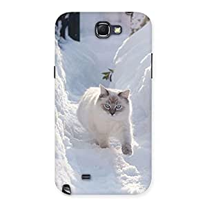 Snow Cat Back Case Cover for Galaxy Note 2