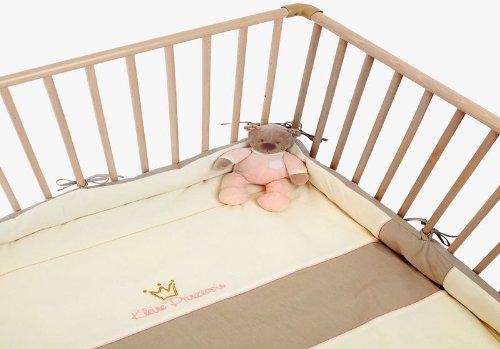 Be Be's Collection 751-10 Nicki-Laufgittereinlage Kleine Prinzessin 75 x100 cm / 100 x100cm ecru/rose