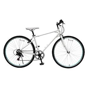 トップワン(TOP ONE) シマノ6段ギア搭載 クロスバイク 26インチ [鍵・ライト付き] ホワイト MCR266-29-WH