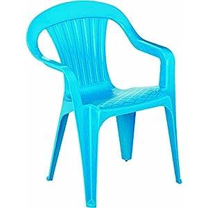 Adams Mfg./Patio Furn. Blue Kids Chair by Adams