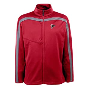 NFL Mens Full Zip Viper Fleece Jacket, Cardinal Gunmetal by Antigua