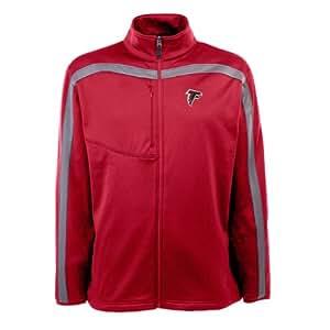 NFL Men's Atlanta Falcons Full Zip Viper Fleece Jacket (Dark Red/Gunmetal, X-Large)