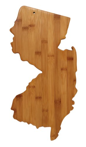 Totally Bamboo State Cutting & Serving Board, New Jersey, 100% Bamboo Board for Cooking and Entertaining