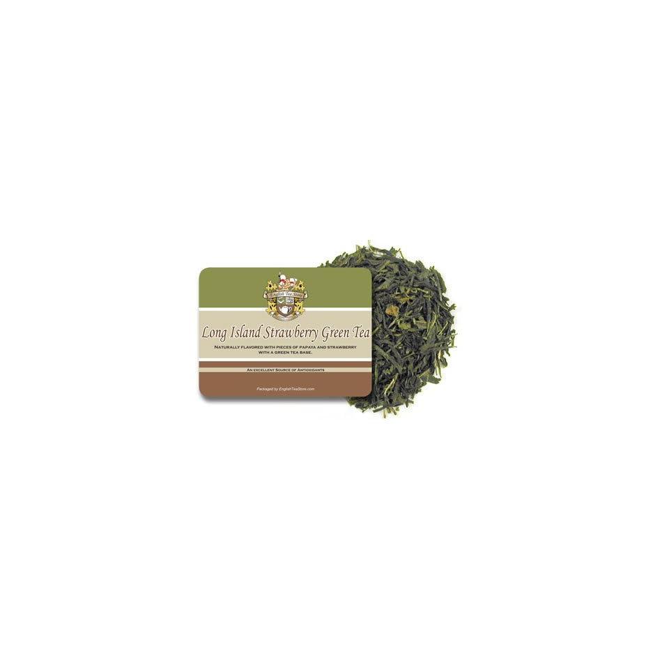Long Island Strawberry Green Tea   Loose Leaf   16oz
