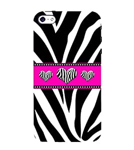 Snapdilla Different Pattern Black & White Heart Shaped Zebra Love Leather Phone Case for Apple iPhone 4