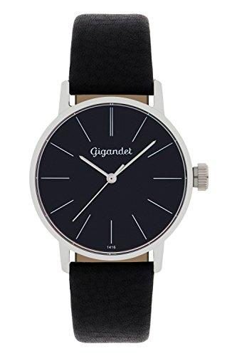 Gigandet Reloj Mujer Minimalism Correa de Cuero Negro G43-002