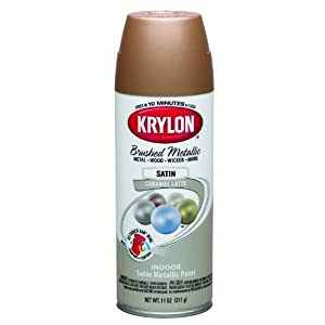 Krylon K05125000 Brushed Metallic Aerosol Spray Paint 11 Ounce Caramel Latte Plaster Spray