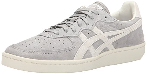 Onitsuka Tiger GSM Tennis Shoe, Light Grey/Off White, 10 M US