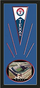 Texas Rangers Wool Felt Mini Pennant & Rangers Ballpark , First Opening Day Photo... by Art and More, Davenport, IA