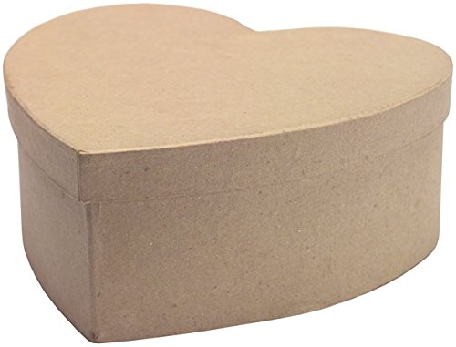 "Dcc Crafts Paper Mache 7-1/2"" Heart Box front-820438"