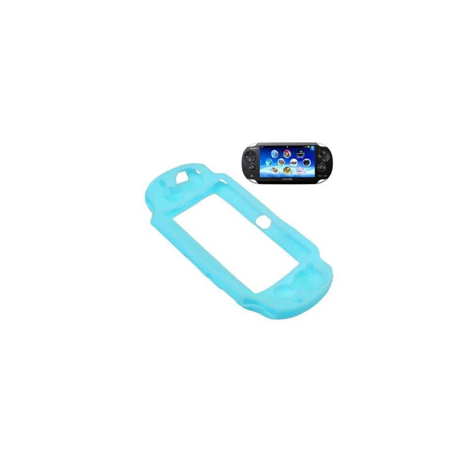 BW Silicone Sleeve Gel Cover Skin Case for Sony Playstation PS Vita  baby Blue