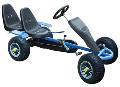 go kart kettcar gokart go cart tretauto tretfahrzeug blau. Black Bedroom Furniture Sets. Home Design Ideas