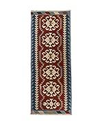 QURAMA Alfombra Kilim Anatolia Rojo/Multicolor 256 x 87 cm
