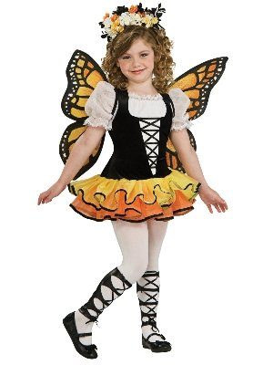 Girls Monarch Butterfly Costume with Headpiece and Wings Large 10-12