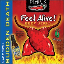 Beef Jerky Blairs Feel Alive With Sudden Death Hot Sauce Xxx-heatthree Pack -2oz Pouches from Blair's