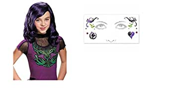 Disney Descendants Costume Wig & Body Jewelry Tattoos ~ Disguise
